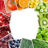 Fresh fruits and vegetables Stock Image