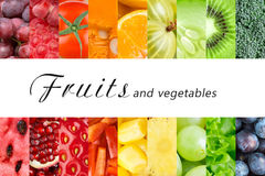 Fresh fruits and vegetables. Healthy food concept stock photo