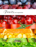 Fresh fruits and vegetables. Healthy food concept stock photos