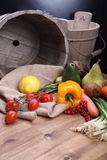Fresh fruits and vegetables for healthy royalty free stock image