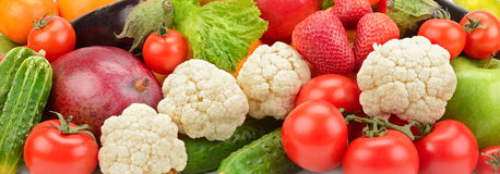 Fresh fruits and vegetables royalty free stock photos