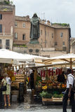 Fresh fruits and vegetables for sale in Campo de Fiori Royalty Free Stock Photo