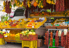 Fresh fruits and vegetables, Sorrento, Italy.  Royalty Free Stock Images