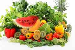 Fresh fruits and vegetables Stock Photos