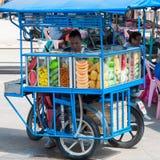 Fresh fruits vendor on streets of Kanchanaburi, Thailand Royalty Free Stock Images