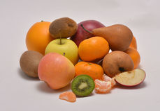 Fresh fruits on the white. Background Royalty Free Stock Photography