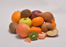 Fresh fruits on the white. Background Royalty Free Stock Photos