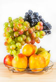 Fresh fruits on wooden table Royalty Free Stock Photo