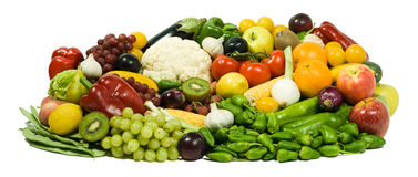 Fresh Fruits XXL. Healthy Eating series: Fruits & Vegetables assortment Royalty Free Stock Photos