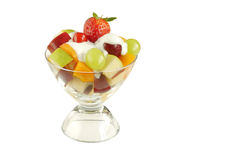 Fresh fruits with yogurt Royalty Free Stock Photos