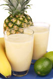 Fresh fruity milkshake Royalty Free Stock Image