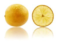 Fresh fully ripe lime in vibrant yellow color Royalty Free Stock Photography