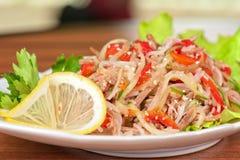 Fresh funchozy salad Royalty Free Stock Photography