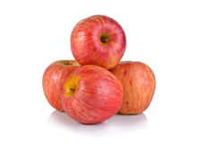 Fresh gala apples. Isolated on white Stock Photo