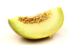 Fresh galia melon piece Royalty Free Stock Photos