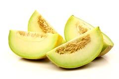 Fresh galia melon pieces Royalty Free Stock Images