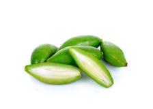 Fresh garcinia ,madan sour flavor. On white background Stock Photography