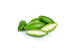 Fresh garcinia ,madan sour flavor. On white background Royalty Free Stock Photography