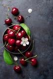Fresh garden cherry Royalty Free Stock Photography