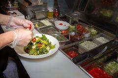 Fresh Garden Green Salad Prep Royalty Free Stock Photography