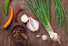 Fresh garden herbs and spices Royalty Free Stock Photo