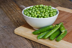 Fresh garden peas Stock Images