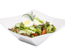 Fresh Garden Salad with a Hard-boiled Egg on Top #3 Royalty Free Stock Images