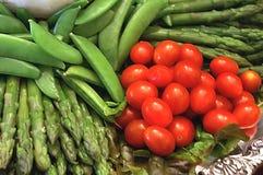 Fresh Garden Vegetables. Vegetables picked fresh from the garden to the market stock photo