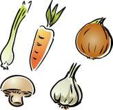 Fresh garden vegetables Stock Photos