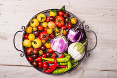Fresh garden vegetables Stock Photos