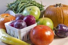 Fresh garden vegetables in a still life Stock Photo