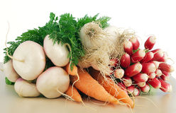Fresh garden vegetables. On the white background Royalty Free Stock Image