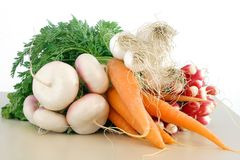 Fresh garden vegetables. On the white background Royalty Free Stock Photography