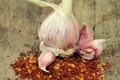 Fresh garlic Royalty Free Stock Photography