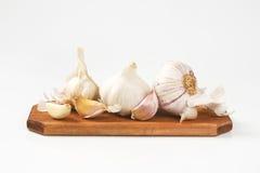 Fresh garlic bulbs and cloves Royalty Free Stock Photo