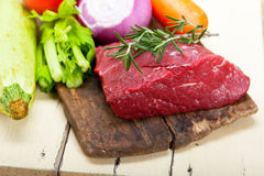 Fresh raw beef cut ready to cook Stock Photography
