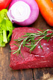Fresh raw beef cut ready to cook Royalty Free Stock Image