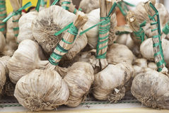 Fresh garlic for sale Royalty Free Stock Images