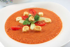 Fresh gazpacho Stock Image