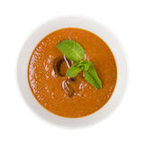 Fresh gazpacho soup. With mint Stock Image