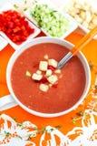 Fresh Gazpacho soup Stock Photo