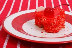 Fresh gelled cake on a plate Stock Image