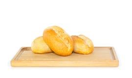 Fresh German bread rolls on a breakfast tray Royalty Free Stock Image