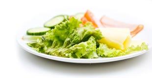 Fresh GI food. A plate with fresh GI food  on white background Stock Photo