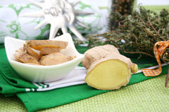 Fresh ginger Stock Photography