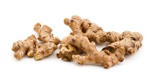 Fresh Ginger. On isolated background Royalty Free Stock Photography