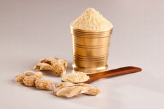 Fresh Ginger Powder. Fresh Ginger Powder is often used in indian recipes to add more spicy Royalty Free Stock Photography