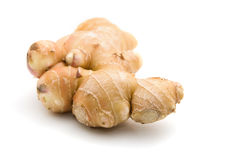 Fresh Ginger Root. A fresh piece of ginger root isolated on white background Stock Photography