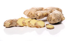 Fresh ginger root Royalty Free Stock Images