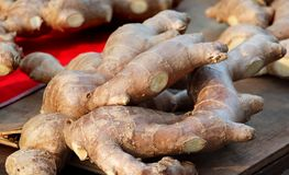 Fresh Ginger Roots Royalty Free Stock Image